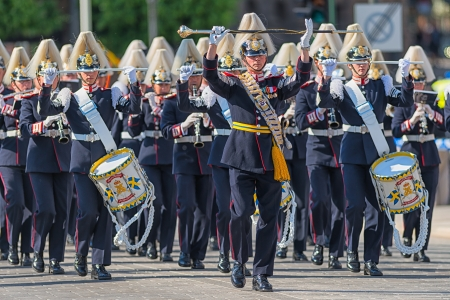 STOCKHOLM, Sweden - JUNE 8: The Royal Wedding between Princess Madeleine and Chris O´Neill and the parade with the the Army Music Corps that was starting the procession. June 8, 2013, Stockholm, Sweden
