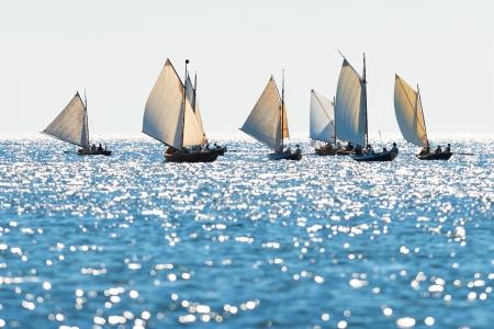 Postal rowing boats between Grisslehamn  Sweden  and Eckerö  Åland  in sunny weather