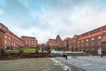 abbreviated: STOCKHOLM, FEBRUARY 04  The main campus of the university KTH  Kungliga Tekniska Hogskolan  , February 04, 2014, Stockholm, Sweden  The Royal Institute of Technology, abbreviated KTH Editorial