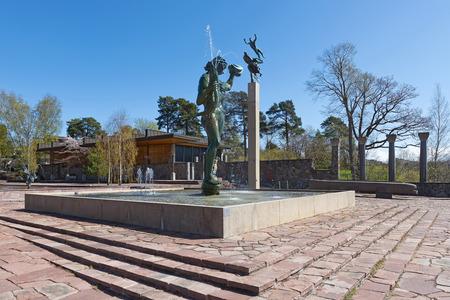 carl: STOCKHOLM, SWEDEN - APRIL 26: Famous statues at Millesgarden of the sculptor Carl Milles. April 26, 2015 in Stockholm, Sweden. Created by world famous Swedish sculptor Carl Milles (1875-1955).