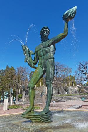 sculptor: STOCKHOLM, SWEDEN - APRIL 26: Famous statues at Millesgarden of the sculptor Carl Milles. April 26, 2015 in Stockholm, Sweden. Created by world famous Swedish sculptor Carl Milles (1875-1955).