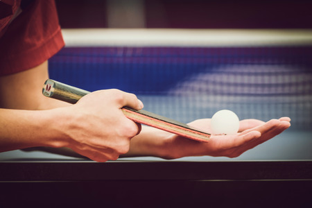 STOCKHOLM, SWEDEN - NOV 11, 2015: Table tennis tournament SOC at the arena Eriksdalshallen. Swedish Open Championships