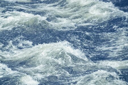 raging: Raging water making waves. Stockholm Strom. Filter applied Stock Photo