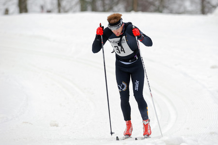 leisure wear: STOCKHOLM, SWEDEN - JAN 24, 2016: The final stretch of the Ski Marathon in cross country skiing classic style. Editorial