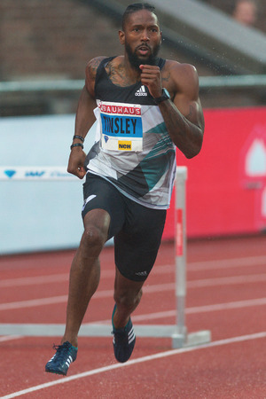 rival rivals rivalry season: STOCKHOLM, SWEDEN - JUNE 16, 2016: Michael Tinsley in the 400 meter hurdles at the IAAF Diamond League in Stockholm. Editorial