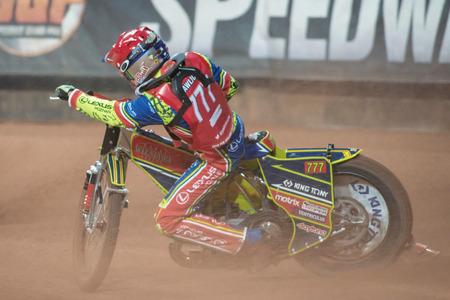 STOCKHOLM - SEPT 24, 2016: Piotr Pawlicki (POL) at Stockholm FIM Speedway Grand Prix at Friends Arena in Stockholm.