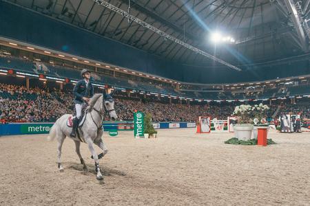 molly: SOLNA, SWEDEN - NOV 27, 2016: Bertram Allen at the Sweden Grand Prix in the Sweden International Horse Show at Friends arena.