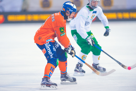 STOCKHOLM, SWEDEN, JAN 22: Bandy game between Hammarby and Bollnas. Hammarby won with 6-1 at Zinkensdamm