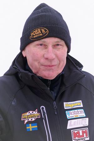 NORRTALJE, SWEDEN, FEB 26, 2017: Iceracing Legend Per Olov Posa Serenius during the Swedish national championships at HZ Bygg Arena in Hallstavik.