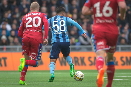 STOCKHOLM, SWEDEN - MAY 15, 2017: Othoman El Kabir at the match between Djurgarden IF and IFK Goteborg at the Tele2 arena. DIF won with 1-0