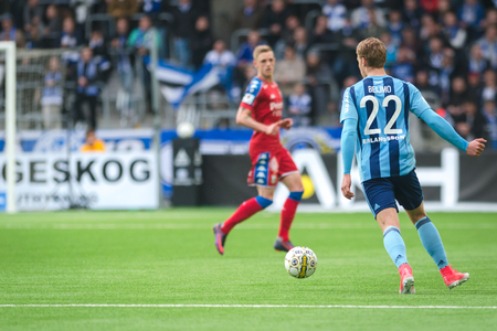 felix: STOCKHOLM, SWEDEN - MAY 15, 2017: Match between Djurgarden IF and IFK Goteborg at the Tele2 arena. DIF won with 1-0 Editorial