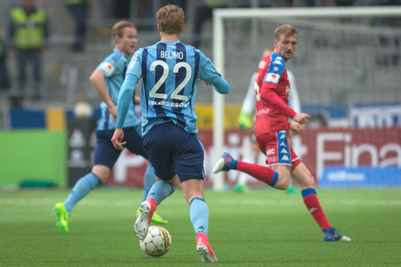felix: STOCKHOLM, SWEDEN - MAY 15, 2017: Felix Beijmo at the match between Djurgarden IF and IFK Goteborg at the Tele2 arena. DIF won with 1-0