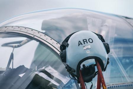 OREBRO, SWEDEN - SEP 2, 2017: AJS 37 Viggen in the airshow at Orebro airport. Historic airoplanes