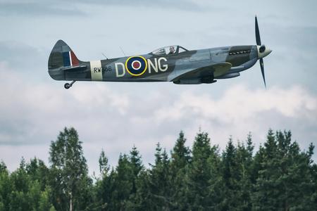 エーレブルー, スウェーデン - 9 月 2、2017: エレブルー空港での航空ショー。歴史的な airoplanes