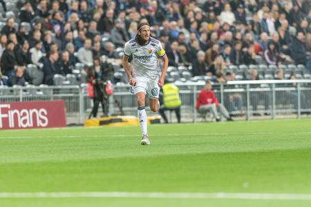 STOCKHOLM, SWEDEN, MARCH, 12, 2018: Djurgarden defender Jonas Olsson at the Swedish cup quarterfinals between Djurgarden and Hacken. Winner DIF with 1-0 Editorial