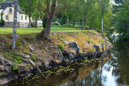 SKEBOBRUK, SWEDEN, AUGUST 2, 2018: Skebobruk is the oldest iron works in Uppland with beautiful surroundings.