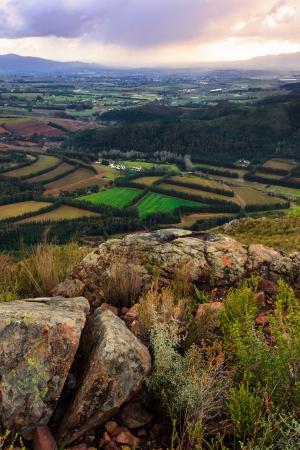 valley view: Valle di vista durante l'inverno
