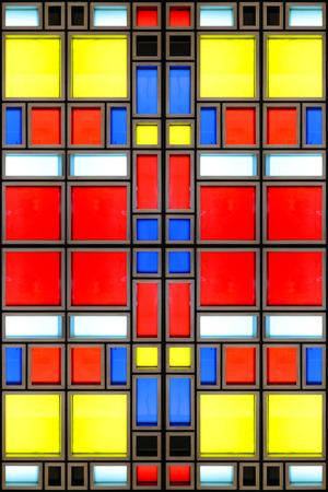 mondrian: Mondrian glass tiled texture Stock Photo