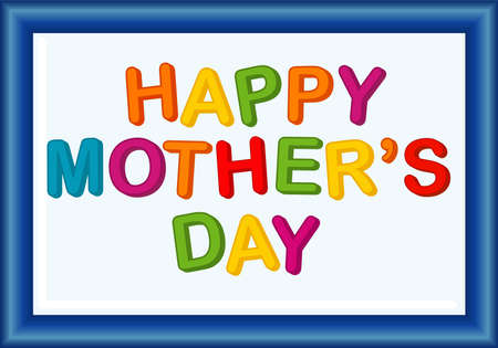 mother board: Magnetic letters board with Happy Mothers Day wishes Illustration