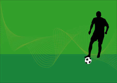 attacker: a silhouette of a soccer player with football
