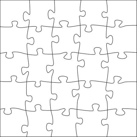 struggling: a jigsaw puzzle with irregularly shaped pieces
