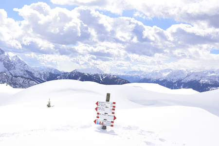 beautiful mountains covered with snow. the peaks of the Alps are the background of the ski slopes for skiers