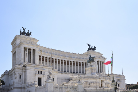 Rome, altar of the homeland. Monument to the king Vittorio Emanuele II ( Vittoriano ) Editorial