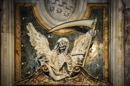 Death angel. Sculpture in the Basilica of San Pietro in Vincoli, Rome