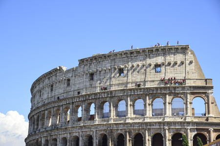Rome, Italy, conservative restoration of the facade of the Colosseum