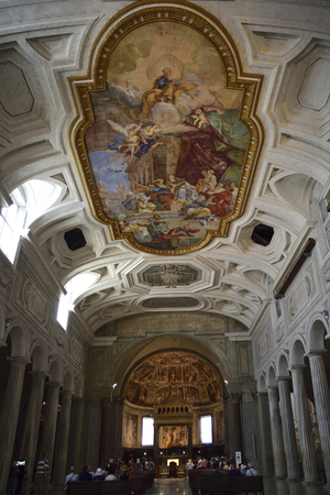 Rome, Italy, interior of Saint Peter in Chains (San Pietro in Vincoli)