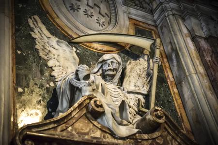 Death angel. Sculpture in the Basilica of San Pietro in Vincoli