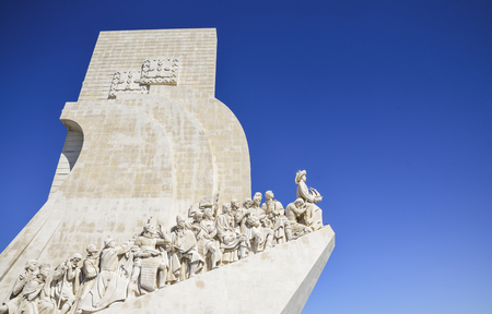monument to the discoveries of new lands in Lisbon, Portugal.