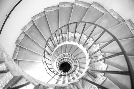 Spiral staircase. Villa DEste, Tivoli, Lazio, central Italy