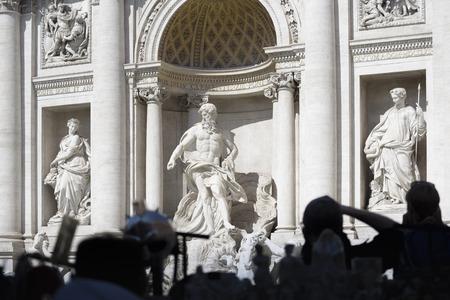 Trevi-Brunnen, barocke Architektur in Rom, Italien