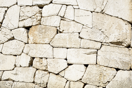 Polygonal walls built from the 7th to the 2nd century BC. The large boulders are interlocked with each other without lime. Amelia, Umbria 版權商用圖片