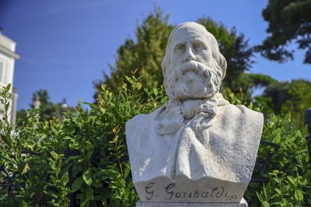 Sculptural depiction of Giuseppe Garibaldi general and Italian condottiero