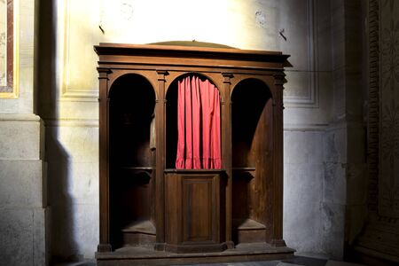 confessional in Catholic church