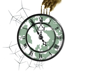 ticking away: Last chance to save the Environment  Stock Photo