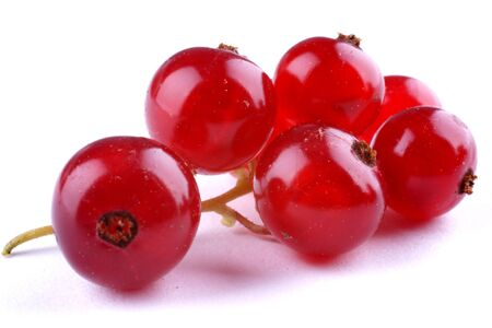 Red currant on a white surfce
