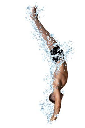 Man diving into Bubbles