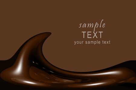 candy bar: Illustration of liquid chocolate swirl with lots of copy space Stock Photo