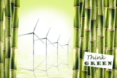 alternative energy sources: Save our Environment - Concept to promote Alternative Energy Stock Photo