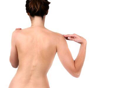 Womans back