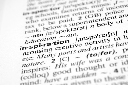 pronunciation: Inspiration - Dictionary definition of business word Stock Photo