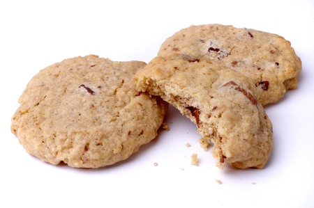 Close up of chocolate chip cookies Stock Photo