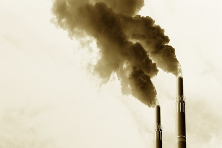 Scary image of power plant's emissions Stock Photo - 4162754