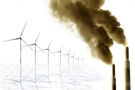 Save our Environment - Concept to promote Alternative Energy Reklamní fotografie