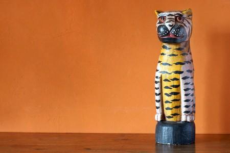 Handmade antique wooden sculpture from Africa photo