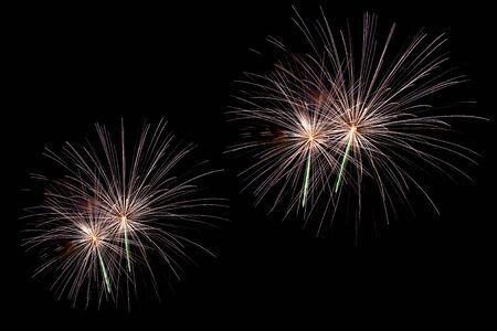 Large variety of different beautiful fireworks on dark sky Stock Photo - 4711548
