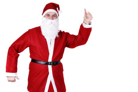 nikolaus: Dancing Santa Claus Stock Photo
